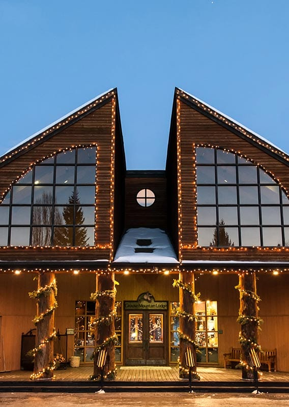 Grouse Mountain Lodge, decorated for the holidays