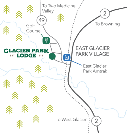 How to Get to Glacier Park Lodge in East Glacier Park Glacier Park Lodge Map on glacier natl park map, east glacier park map, glacier park peak map, glacier park hotel map, glacier montana map, many glacier hotel map, glacier park camping map, lake mcdonald lodge map,