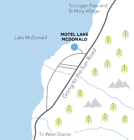 Motel Lake McDonald map