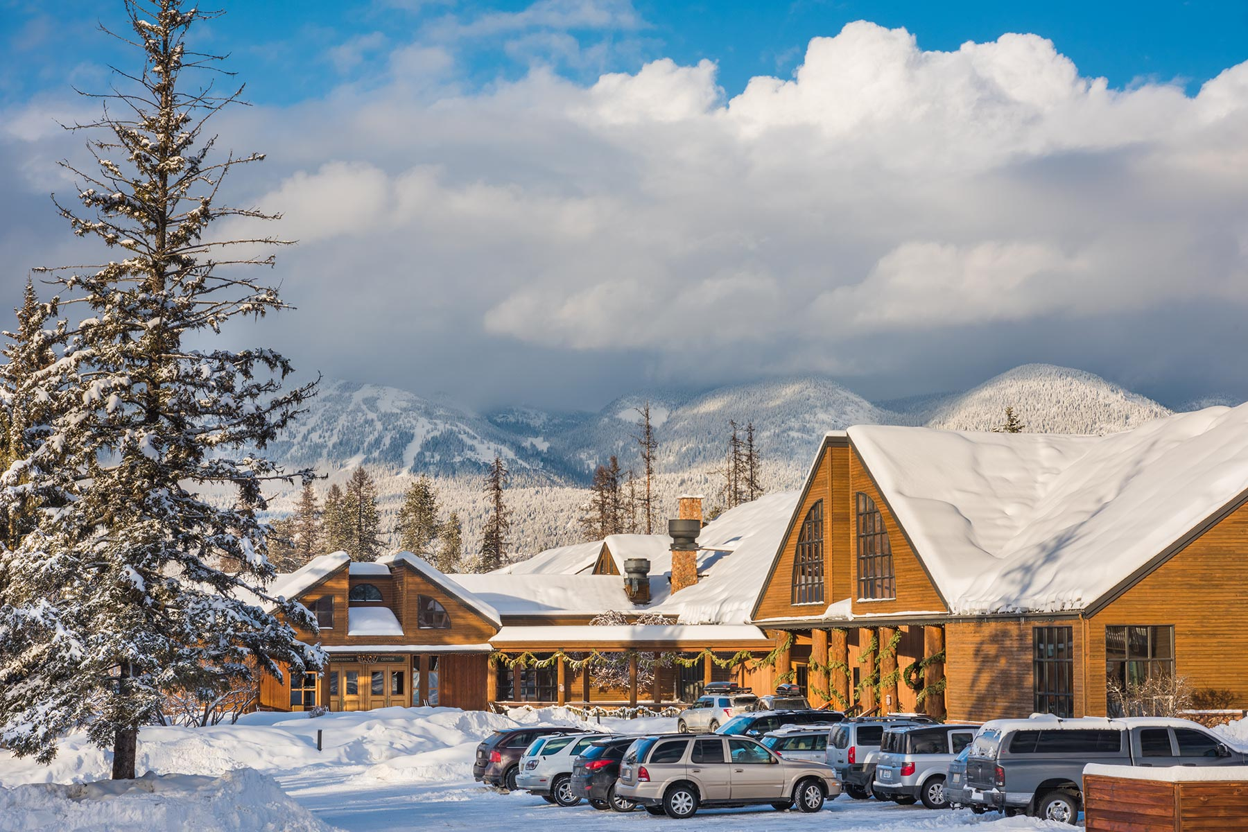 grouse mountain lodge: modern lodge style hotel in whitefish, mt
