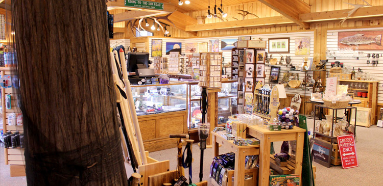 Inside the Cedar Tree Gift Shop