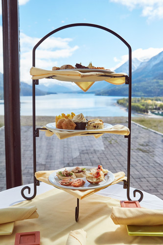 Afternoon Tea overlooking Waterton Lake