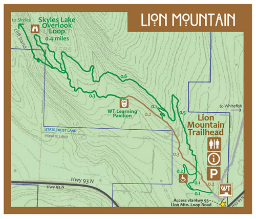 Lion Mountain Trail Map