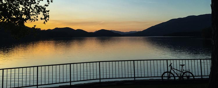 Sunset at Whitefish Lake