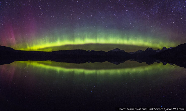 Aurora Arc over Lake McDonald