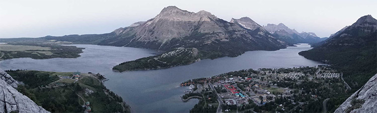 View from Bears Hump over Waterton Lakes