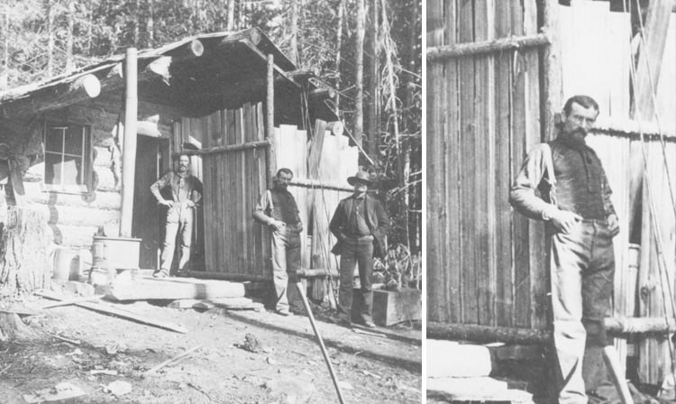Milo Apgar standing in front of his cabin
