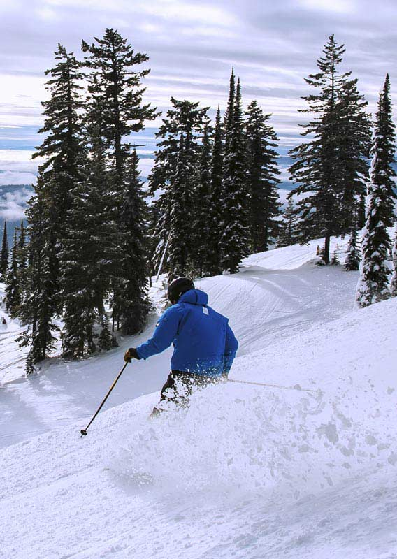 Skiing at Whitefish Mountain Resort, Montana