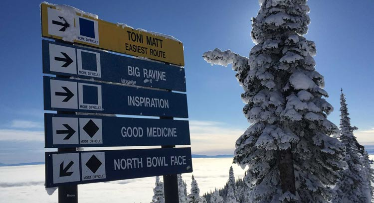 Ski runs at Whitefish Mountain Resort